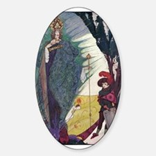 Snow Queen 1 Oval Decal