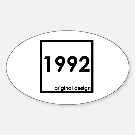 Cute 1992 Sticker (Oval)