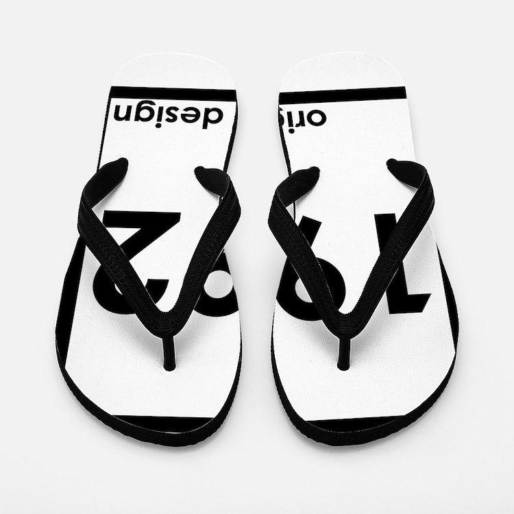 1992 birthday age year born design orig Flip Flops