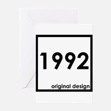 1992 birthday age year born design Greeting Cards
