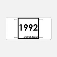 1992 birthday age year born Aluminum License Plate