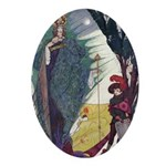 Snow Queen 1 Oval Ornament