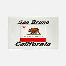 San Bruno California Rectangle Magnet