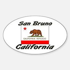 San Bruno California Oval Decal