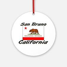 San Bruno California Ornament (Round)