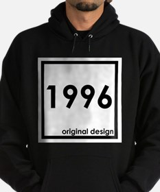 1996 year age born birthday original Hoodie (dark)