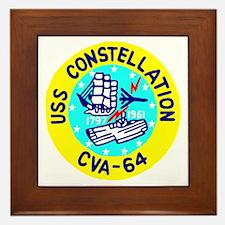 USS Constellation (CVA 64) Framed Tile