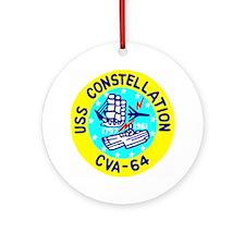 USS Constellation (CVA 64) Ornament (Round)