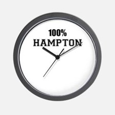 100% HAMPTON Wall Clock