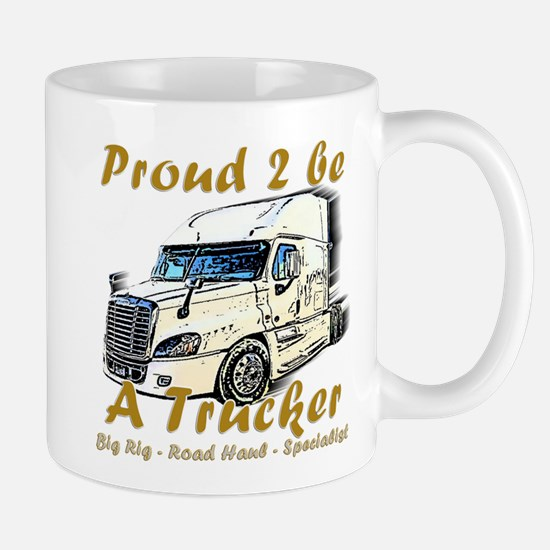 Proud To Be A Trucker Mugs
