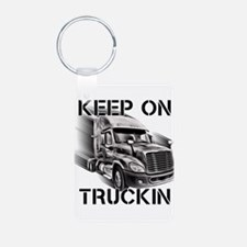 Proud To Be A Trucker Keychains