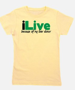 Cute Liver transplant Girl's Tee