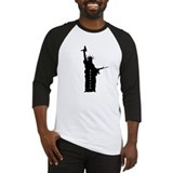 Statue of liberty gun Baseball Tee
