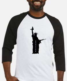 "Lady Liberty with AR and ""Justice"" Baseball Jersey"