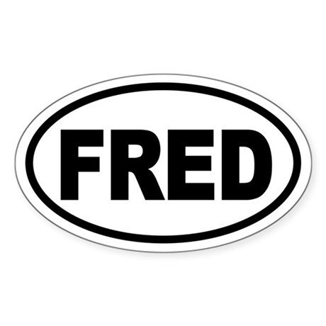 Fred Thompson '08 Oval Sticker