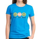 Recycling Peace Love Recycle Women's Dark T-Shirt