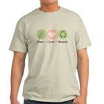 Recycling Peace Love Recycle Light T-Shirt