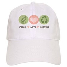 Recycling Peace Love Recycle Baseball Cap
