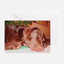 Sleeping Holiday Lab Greeting Card