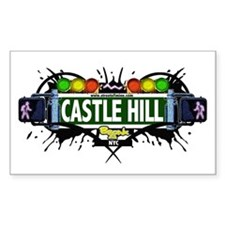 Castle Hill (White) Rectangle Decal