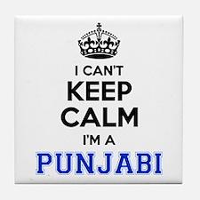 I cant keep calm Im PUNJABI Tile Coaster