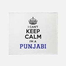 I cant keep calm Im PUNJABI Throw Blanket