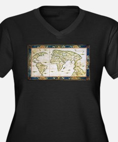 Vintage Map of The World (1566) Plus Size T-Shirt