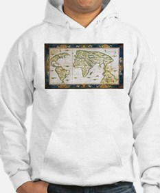 Vintage Map of The World (1566) Hoodie
