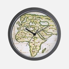 Vintage Map of The World (1566) Wall Clock