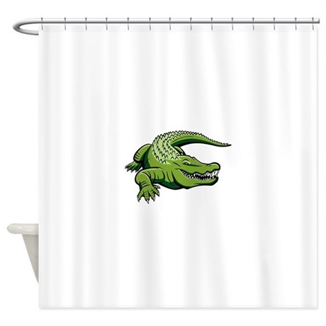 Green Alligator Shower Curtain