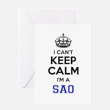 I cant keep calm Im SAAB Greeting Cards