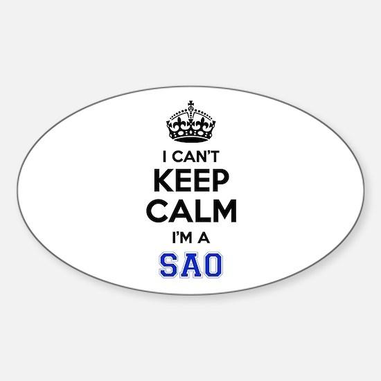 I cant keep calm Im SAAB Decal