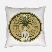 Buddha and the Bodhi Tree Everyday Pillow