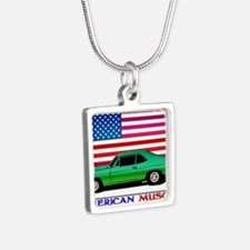 American Muscle Nova Silver Square Necklace