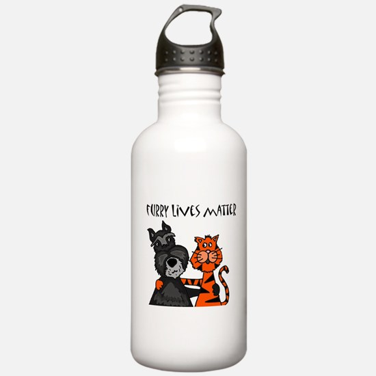 Dog and Cat Love Water Bottle