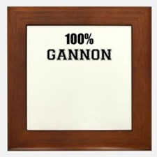 100% GANNON Framed Tile