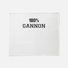 100% GANNON Throw Blanket
