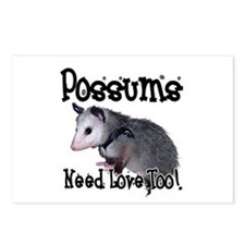 Possums Need Love Postcards (Package of 8)