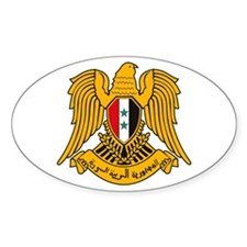 Syria Coat of Arms Oval Decal