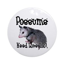 Possums Need Love Ornament (Round)
