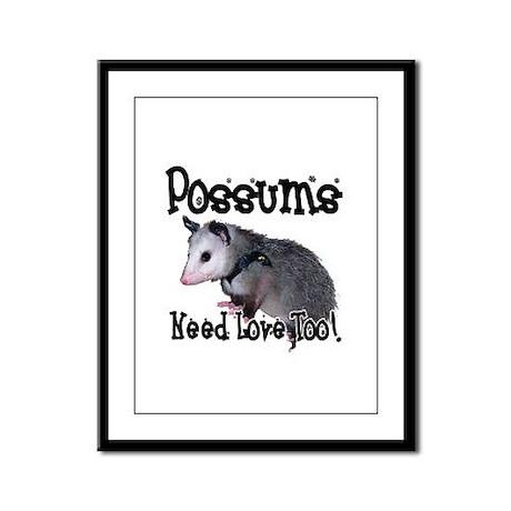 Possums Need Love Framed Panel Print