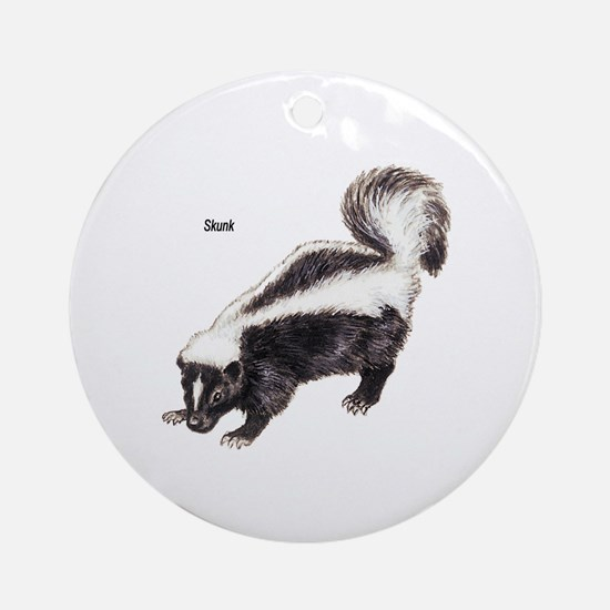 Skunk for Skunk Lovers Ornament (Round)