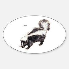 Skunk for Skunk Lovers Oval Decal