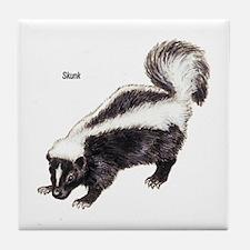 Skunk for Skunk Lovers Tile Coaster