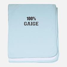 100% GAIGE baby blanket