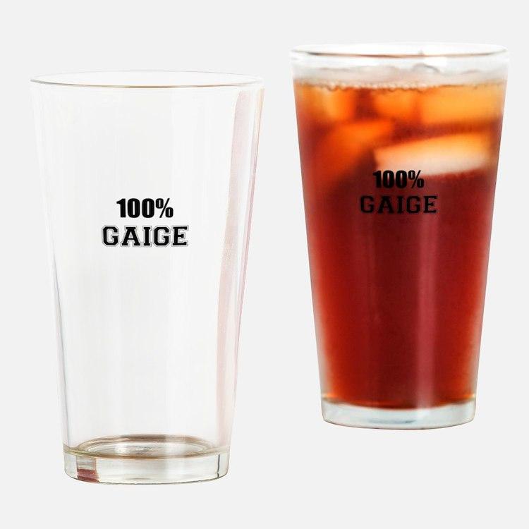 100% GAIGE Drinking Glass