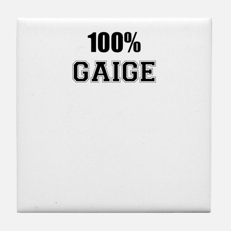 100% GAIGE Tile Coaster