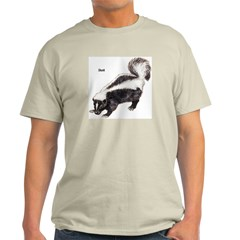 Skunk (Front) Ash Grey T-Shirt