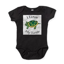 Cute Turtle love Baby Bodysuit