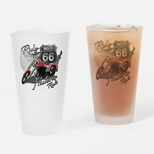 Cute Route 66 Drinking Glass